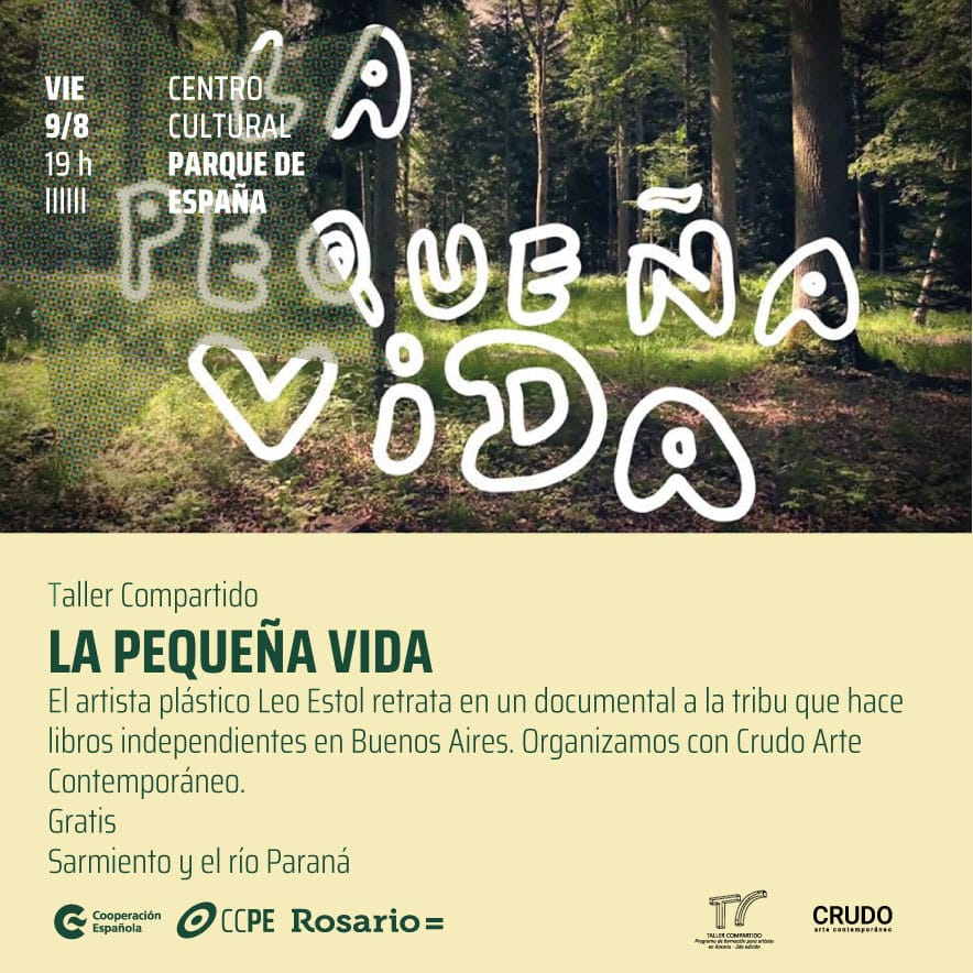 "Flyer del documental ""La pequeña vida"" de Leopoldo Estol."